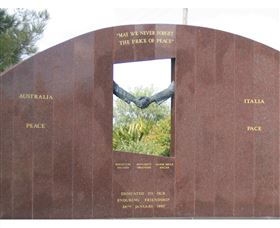 Cowra Italy Friendship Monument - Accommodation Bookings
