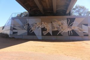 Berri Bridge Mural - Accommodation Bookings