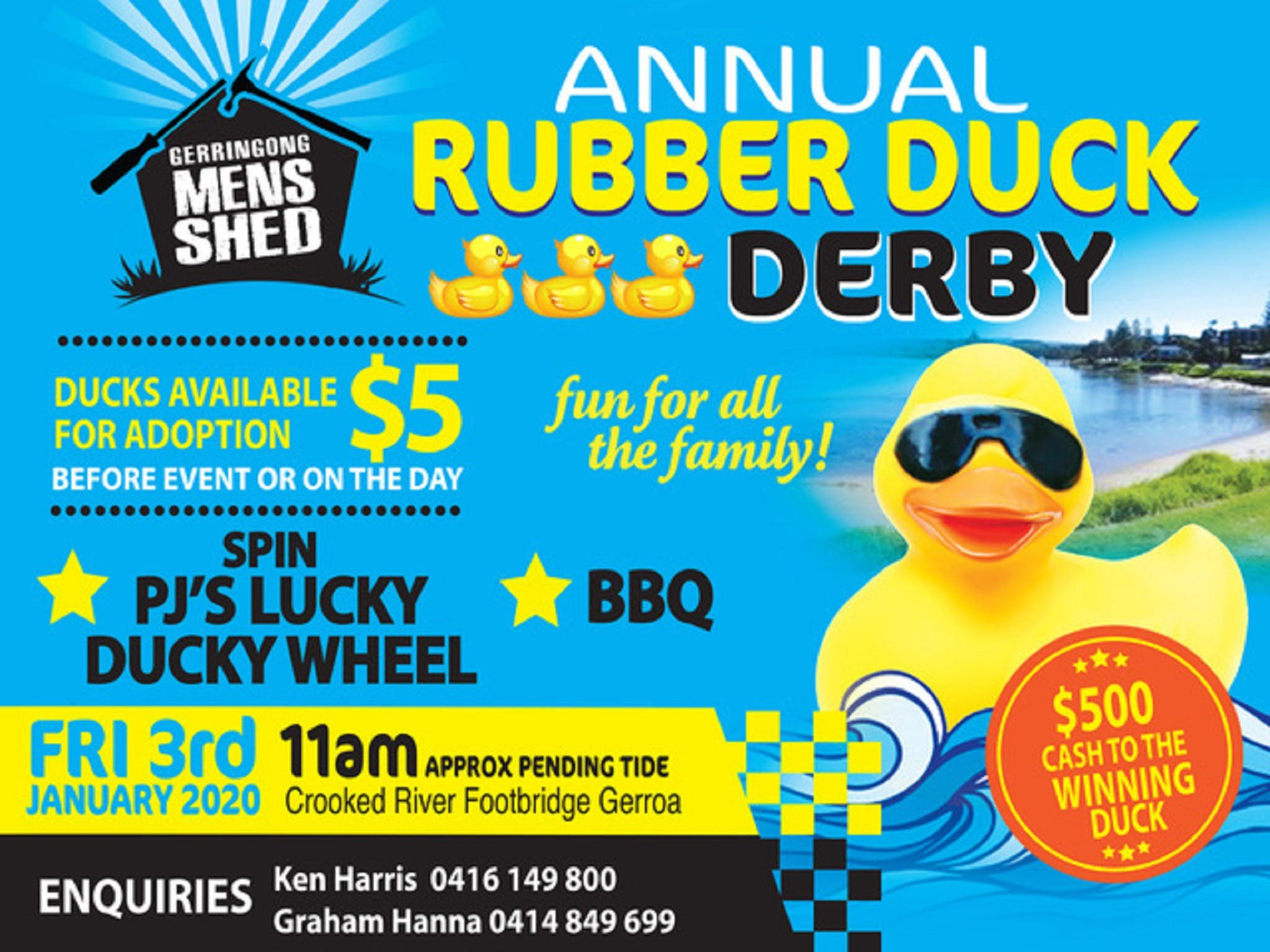 Gerringong Mens Shed Annual Duck Derby - Accommodation Bookings